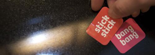 Stick stick bang bang stickers