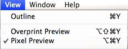 Pixel preview menu