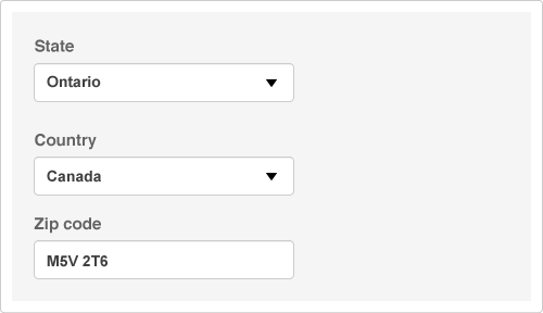 Typical form field design