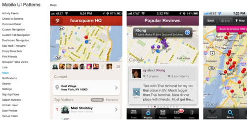 Examples of mobile UI patterns