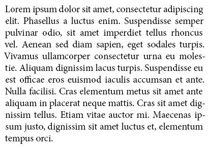 lorem ipsum example