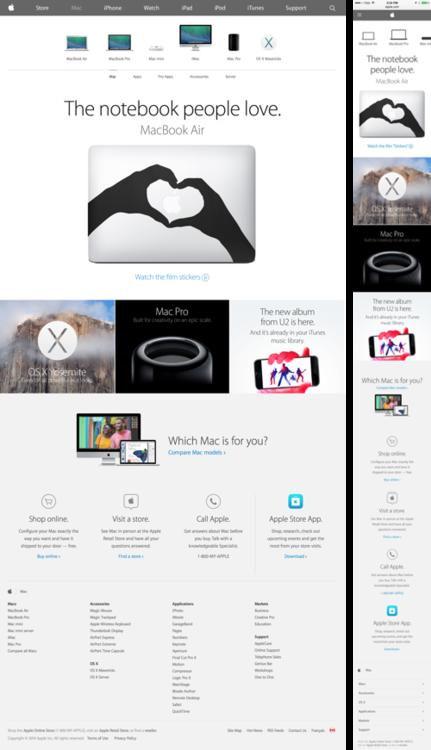 Apple site full UI