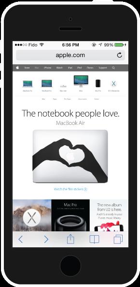 Apple mobile UI