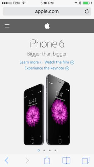 UI on mobile