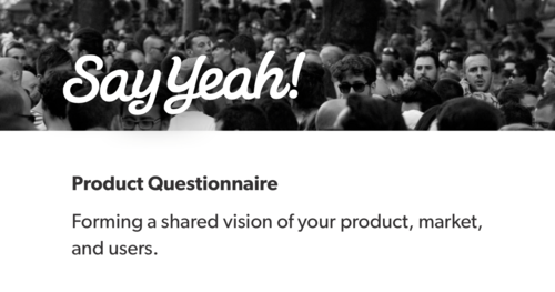 Product questionnaire header image