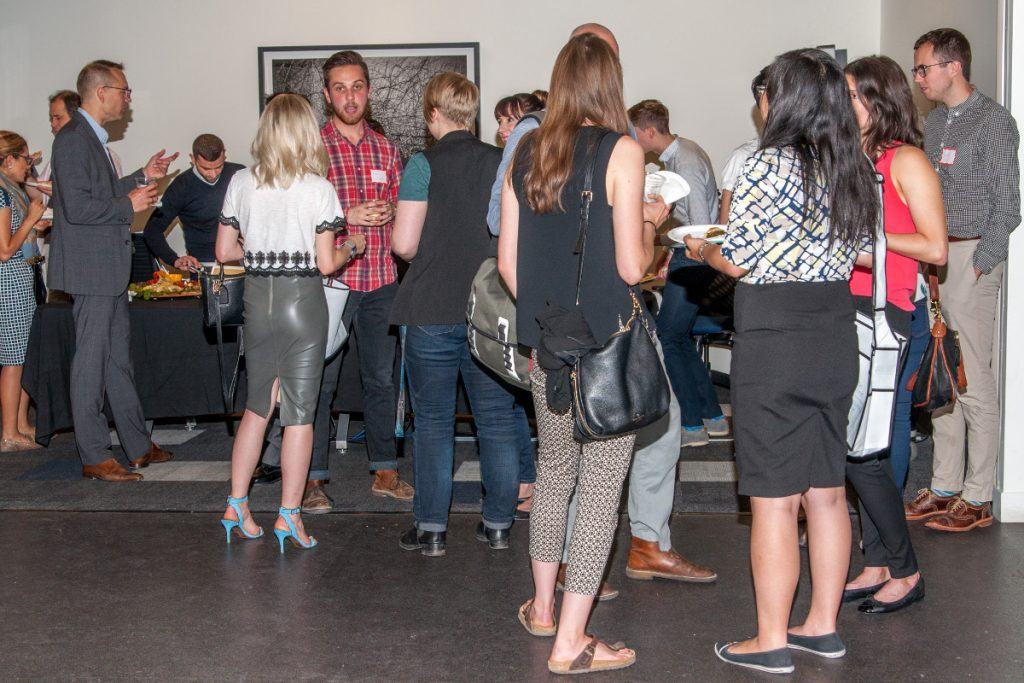 Networking at the Venture Out Conference.