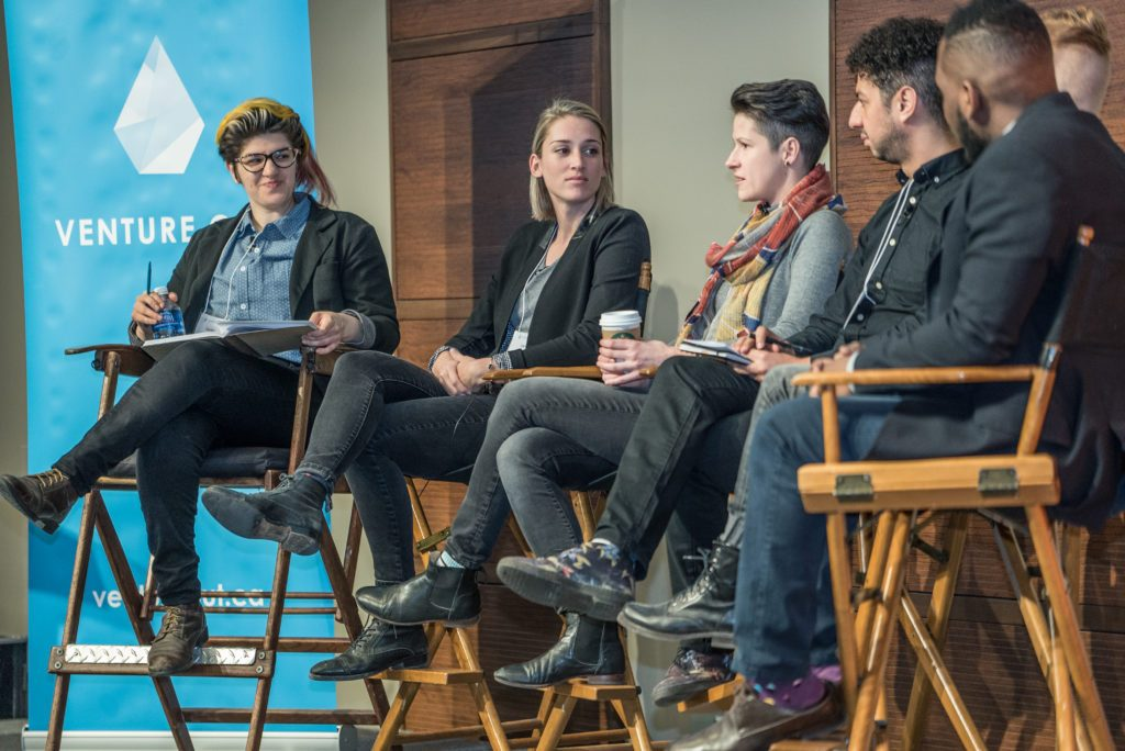 A panel of thought leaders at the Venture Out Conference.
