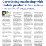 Article: Correlating marketing with mobile products: Your path to conversions & engagement