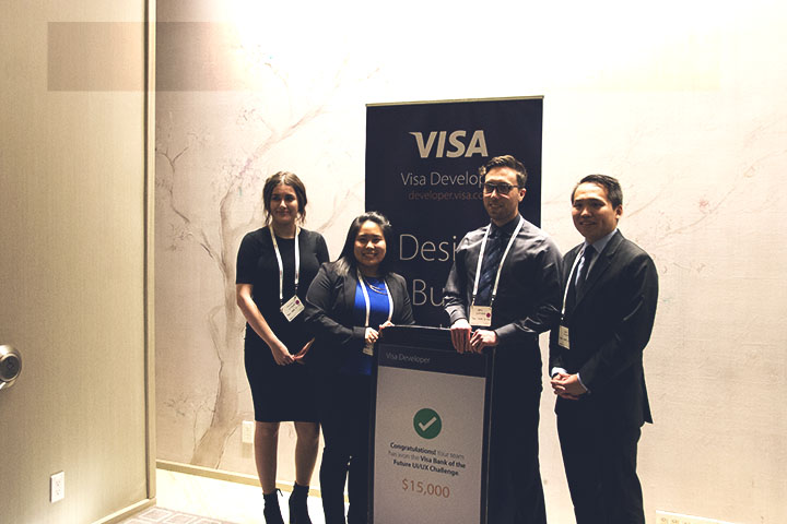 VISA contest winners at Mobey Forum 2016 fintech conference