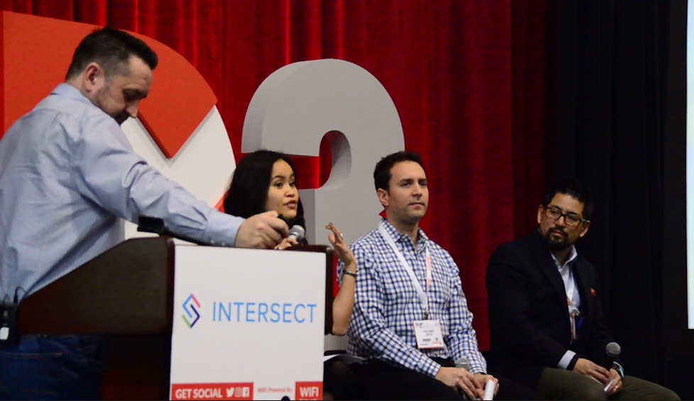 Panel at DX3 2017 discussing voice technology and digital experience