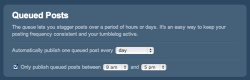 Queued posts on Tumblr