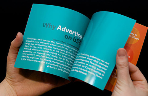 Page explaining why advertise on b5
