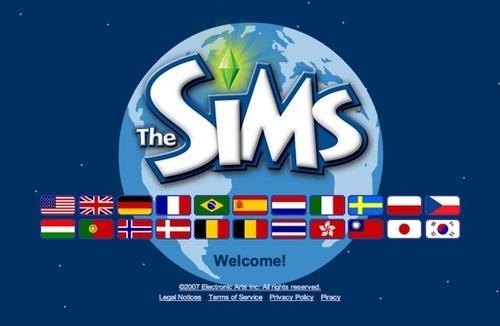 Sims flag selector