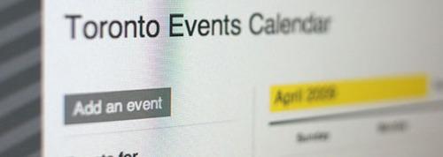 Toronto Events Calendar