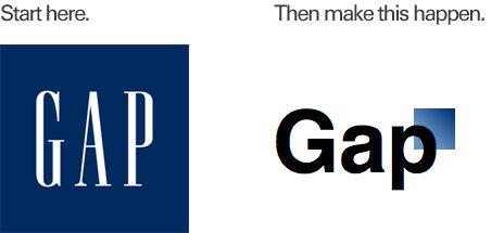 The gap old logo
