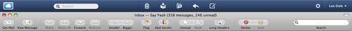 Mail navigation UI